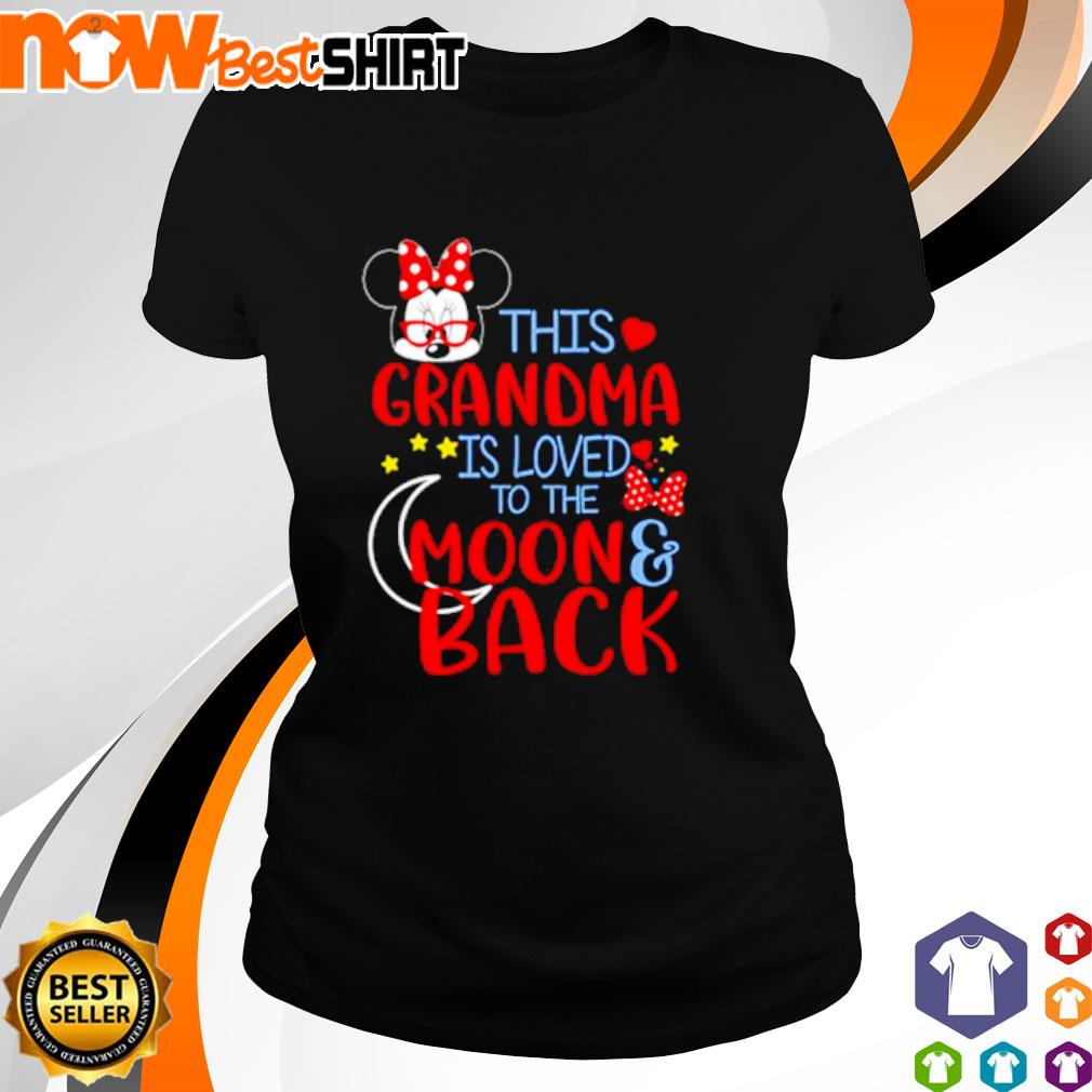 This grandma is loved to the moon back s ladies-tee