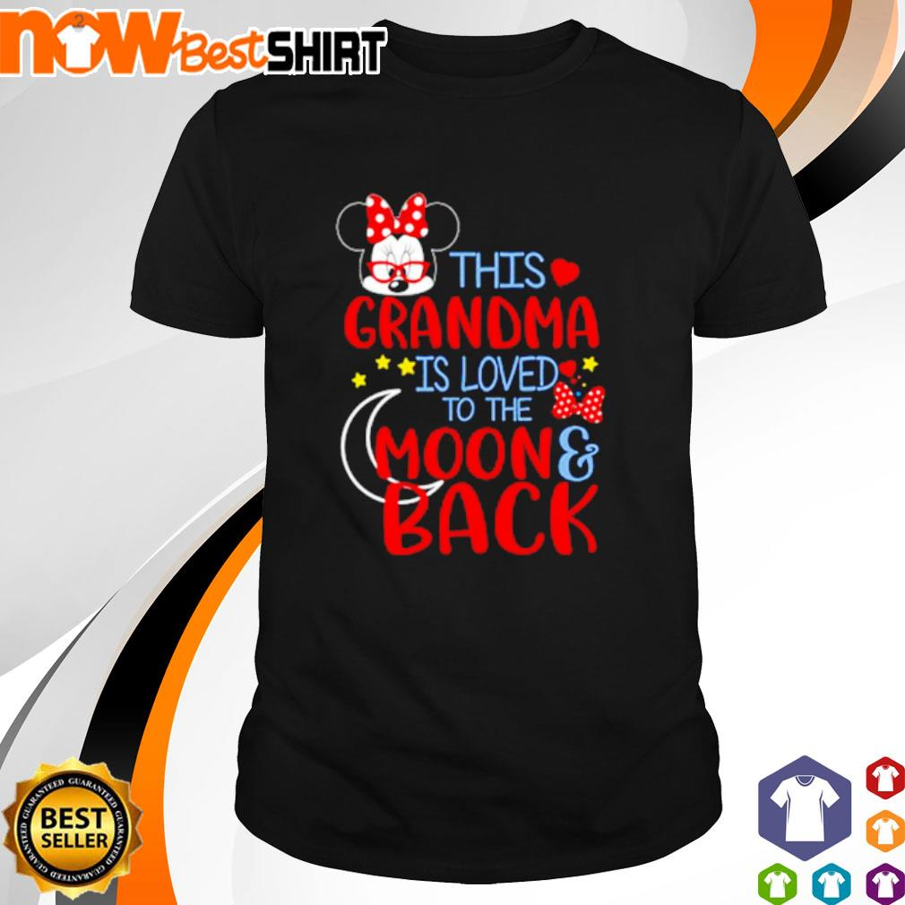 This grandma is loved to the moon back shirt