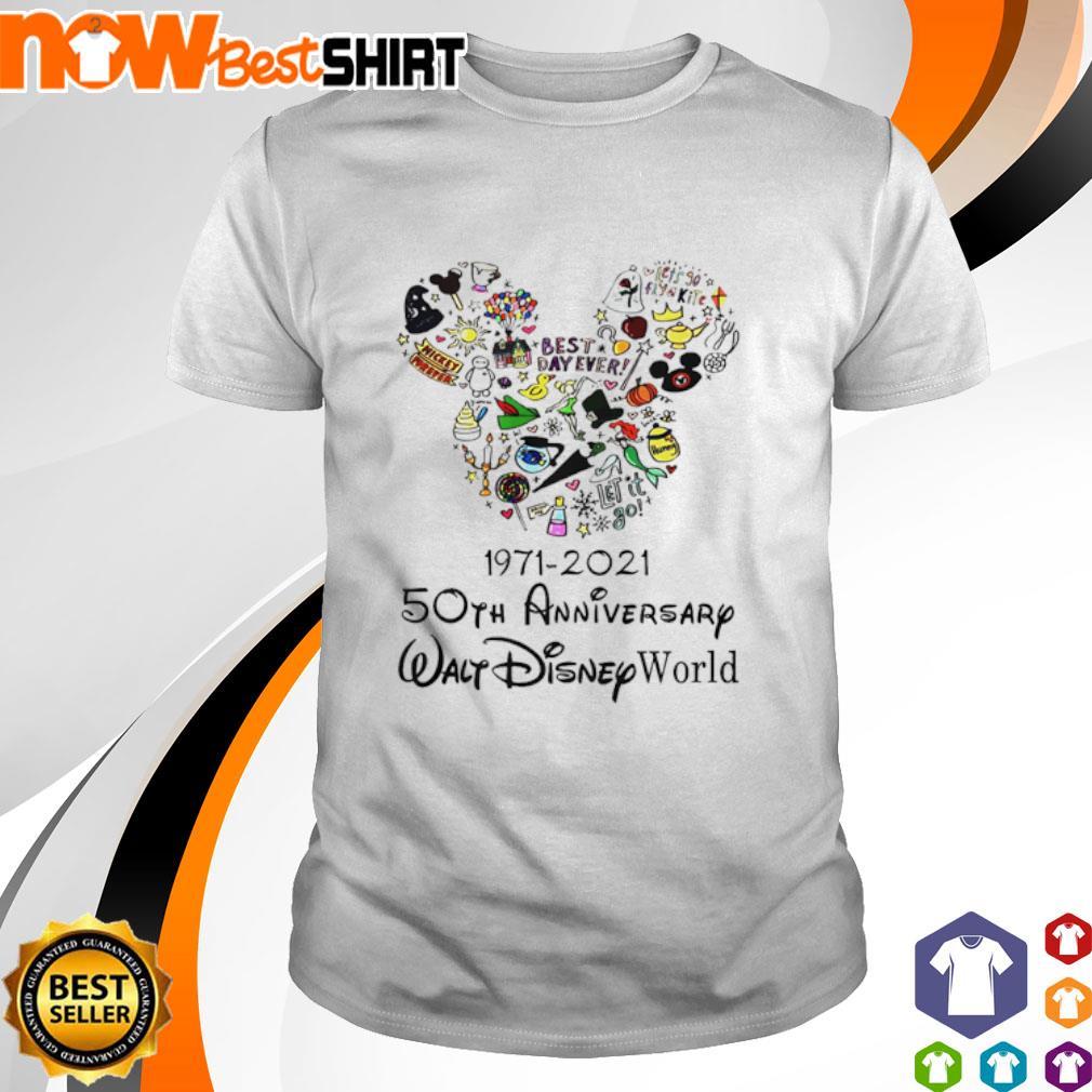 1971 - 2021 50th anniversary Walt Disney World shirt