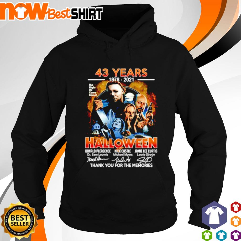 43 Years 1978 - 2021 Halloween thank you for the memories signatures hoodie