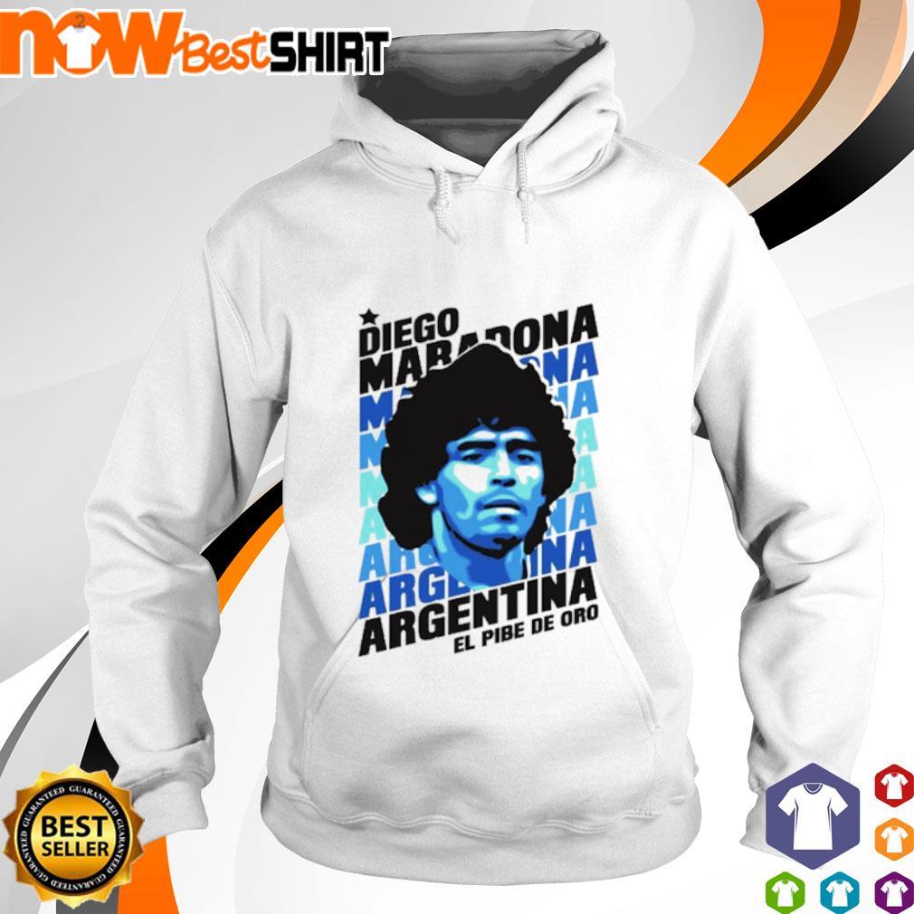 Diego Maradona Argentina El Pibe Oro hoodie
