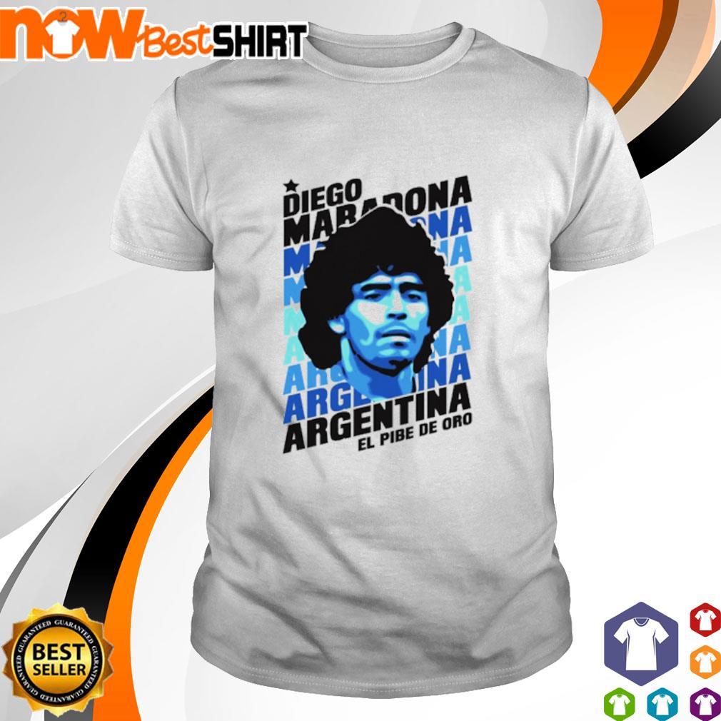 Diego Maradona Argentina El Pibe Oro shirt