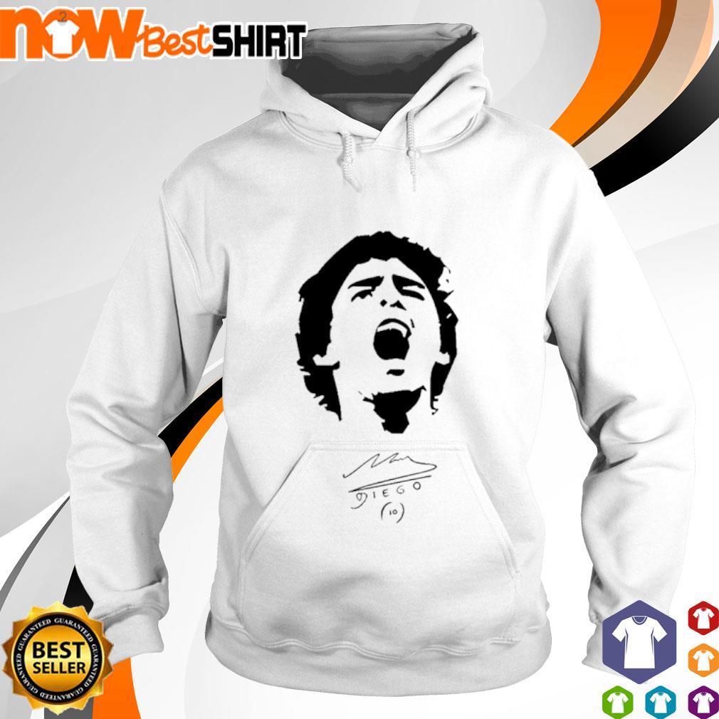 Diego Maradona signatures hoodie