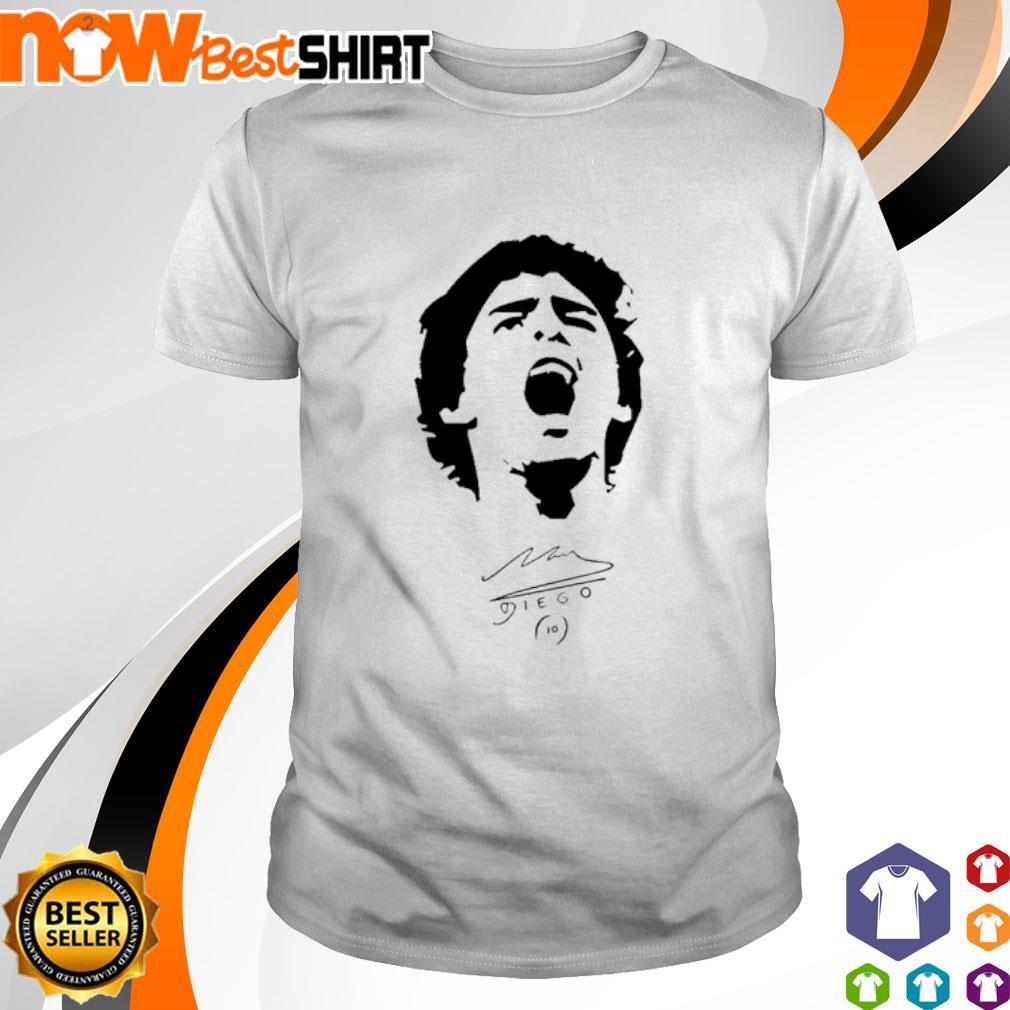 Diego Maradona signatures shirt