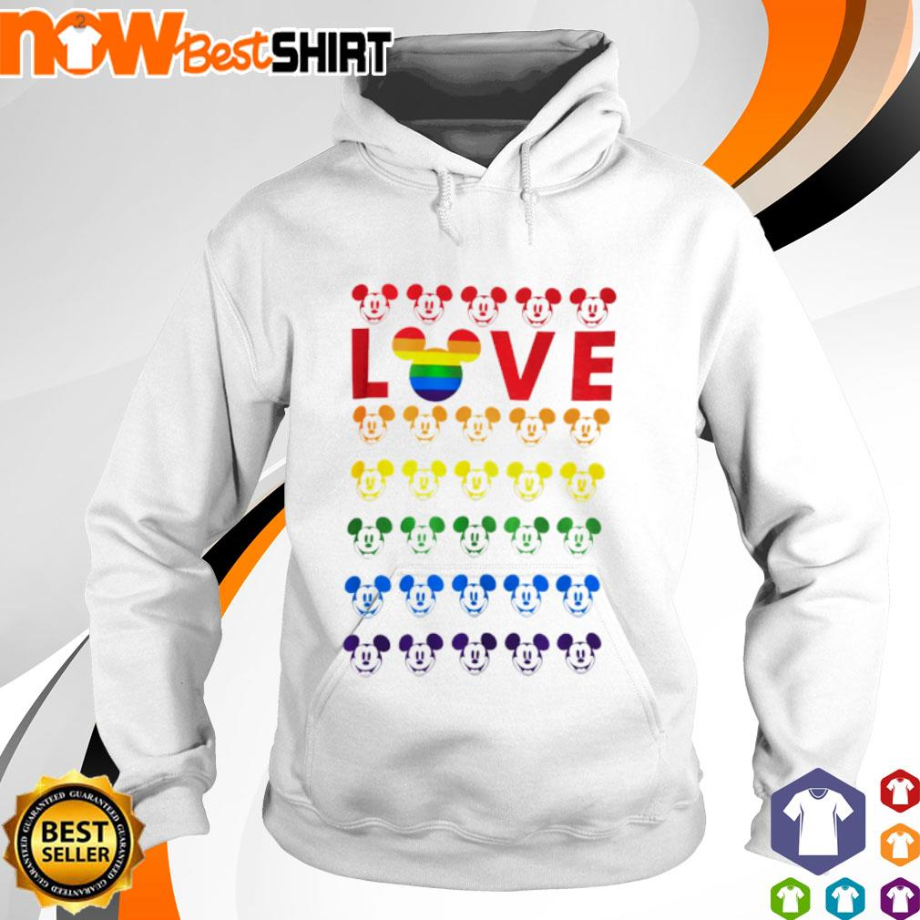 Mickey Mouse Love LGBT hoodie