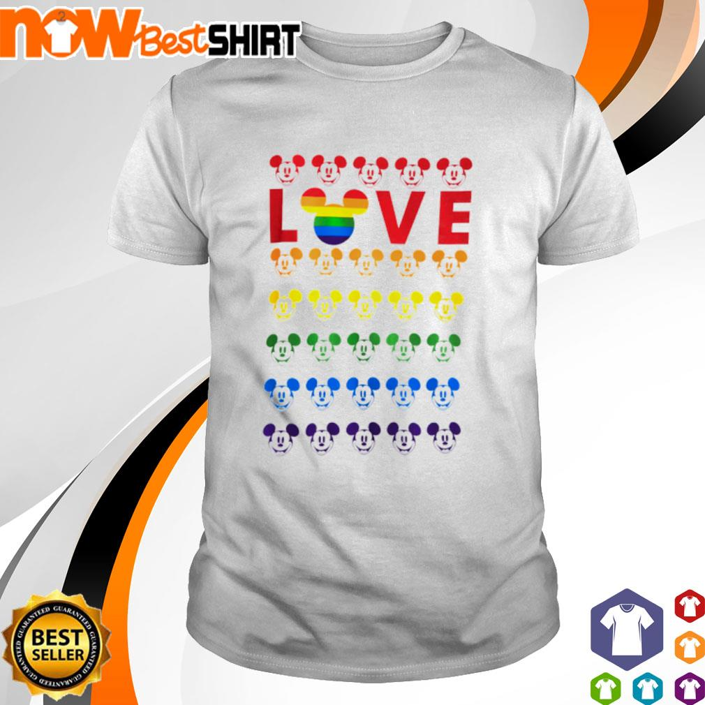Mickey Mouse Love LGBT shirt
