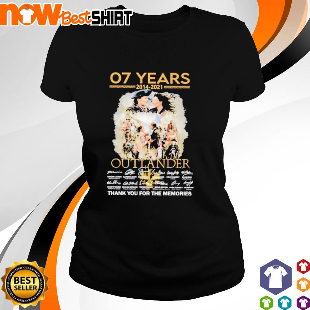 07 Years 2014 - 2021 Outlander thank you for the memories signatures ladies-tee