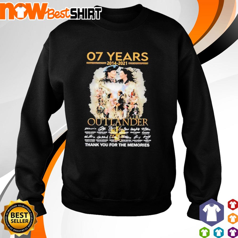 07 Years 2014 - 2021 Outlander thank you for the memories signatures sweater