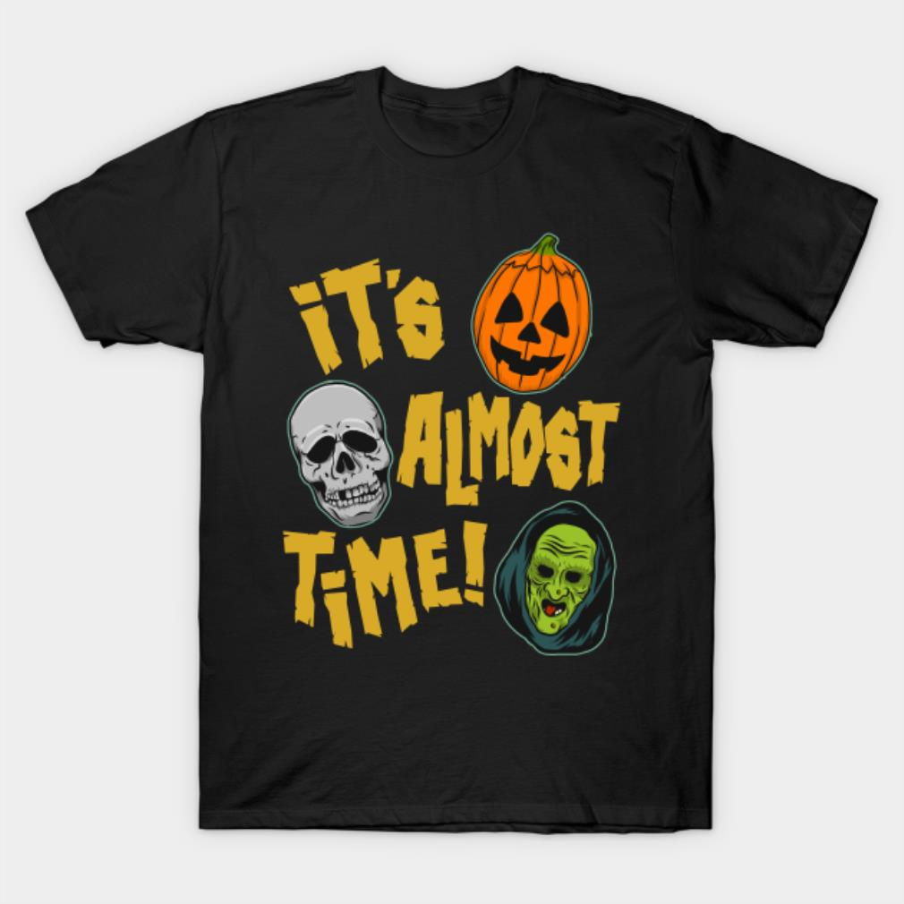 Pumpkin Skull It's almost time Halloween shirt